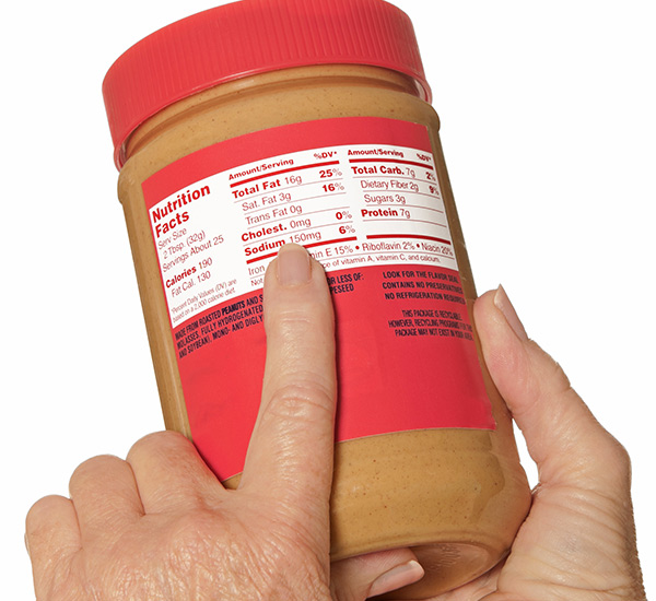 label-markets-consumer-labels-nutrition-facts-peanut-butter-reading-jar-dls
